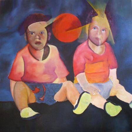 Mis Hijos Retrato Óleo Tela