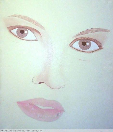 Con mirada de mujer Óleo Lienzo