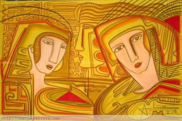 SELECCION ESPECIAL 20 OBRAS CLASE EXPORTACION 2008 III Mixed media Canvas Figure Painting