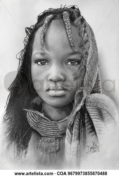 Niña de África 97 Lápiz