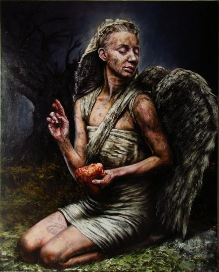 angel heart Portrait Oil Canvas