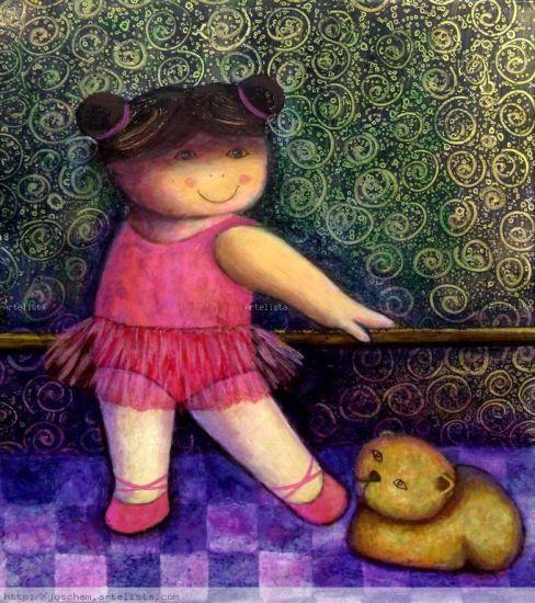 Giovanna y su Ballet para Milhouse Óleo Lienzo Paisaje