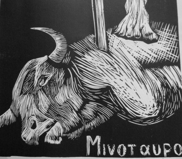 Minotauro Linograbado