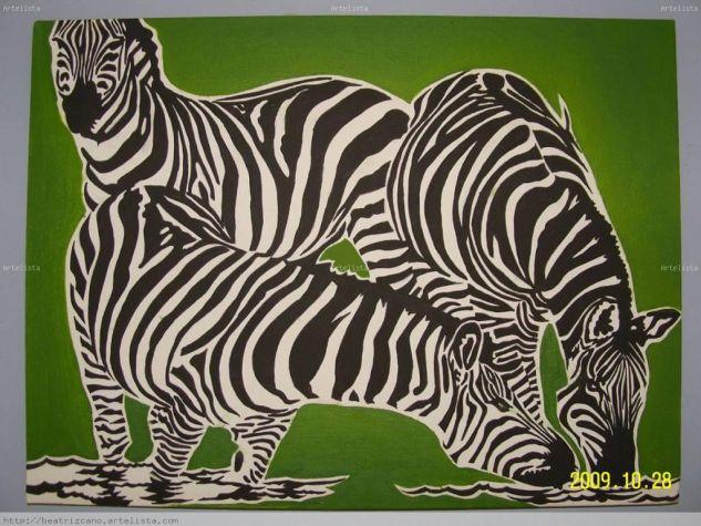 Cebras 02 beatriz cano martinez - Cuadros de cebras ...
