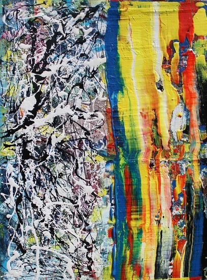Abstract garden Lienzo Media Mixta Paisaje