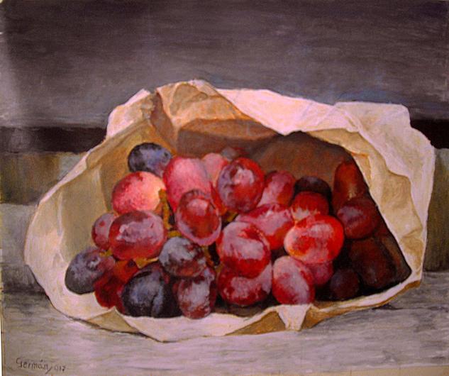 bodegón de uvas Bodegones Óleo Lienzo
