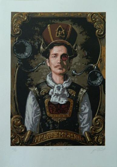 retrato de Hombre Moderno Serigrafía Screen-Printing