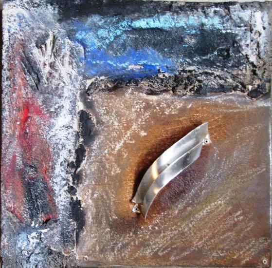 SERIE: AL FINAL DE LA TARDE 9-12 Metal Abstracta