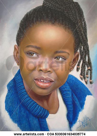 niña de raza negra 32