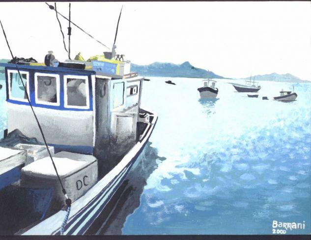 pesquero Acrílico Tabla Paisaje