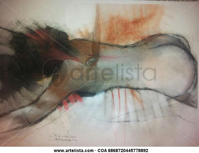 soledad Figura Papel Pastel