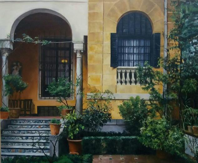 Jardin Museo Sorolla Landscaping Oil Canvas