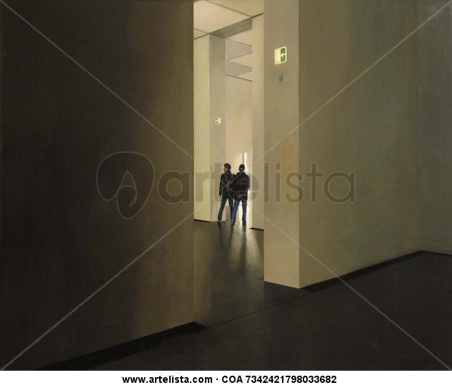 Interior con japoneses - Acrílico / Tabla - 195 X 160