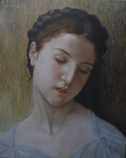 cabeza de pequeña joven(bouguereau)