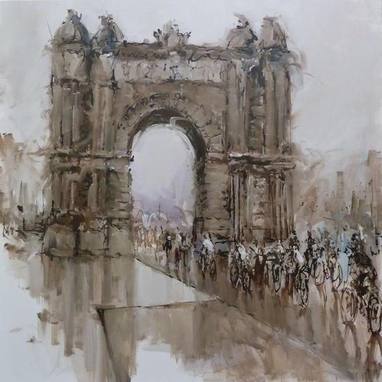 Arc de Triomf Paisaje Lienzo Óleo