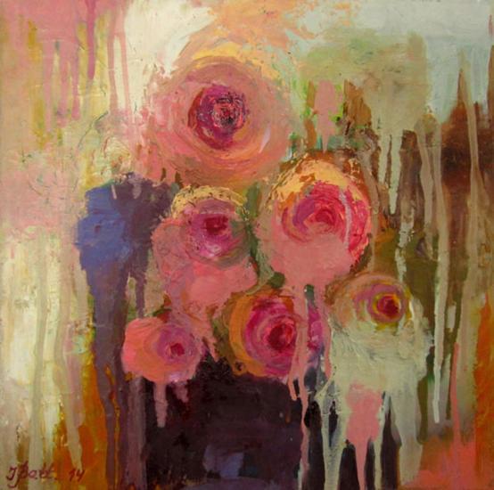 Rozoj / Roses Floral Óleo Lienzo