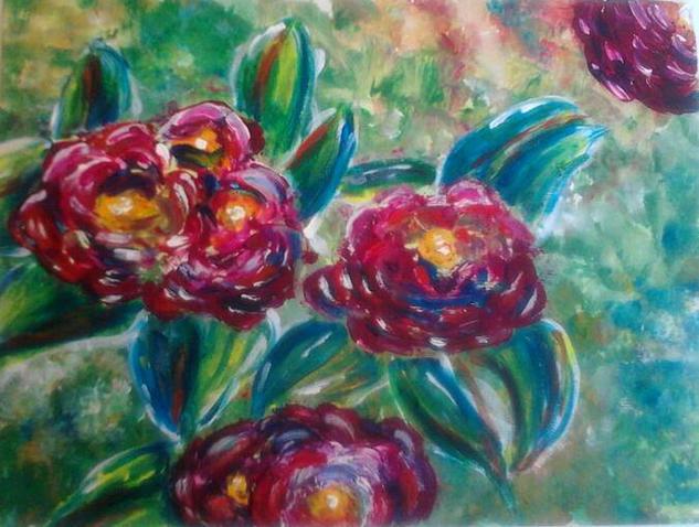 Flores de primavera Floral Acrílico Tabla