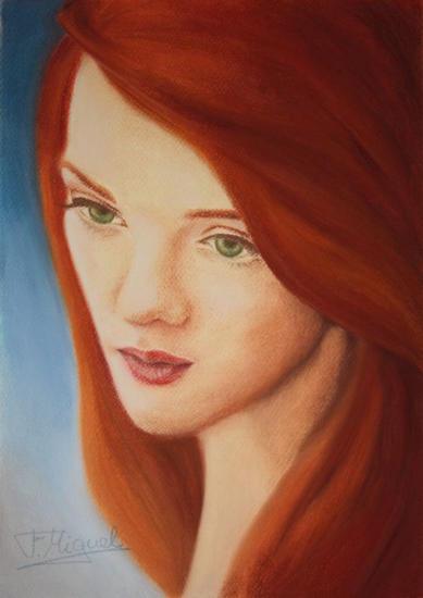 Náyade Papel Pastel Retrato