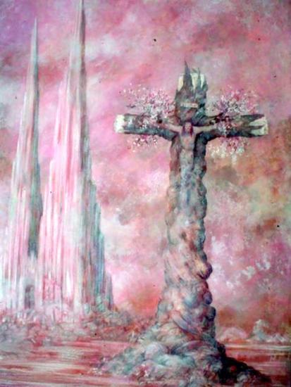 El Cristo de México Lienzo Óleo Paisaje
