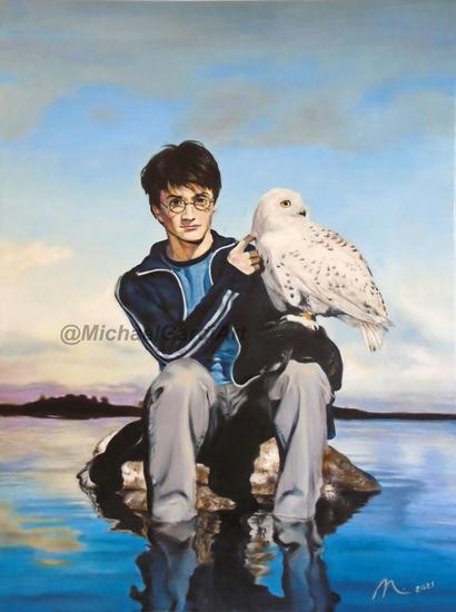 Harry Potter y su mascota Otros Óleo Lienzo