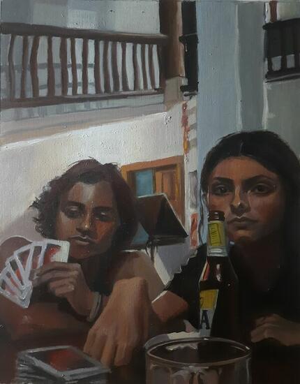 Juego de cartas Portrait Oil Paper