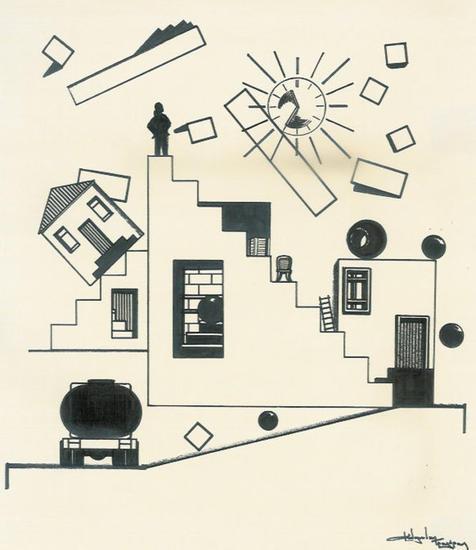sketch / movement Tinta Papel Bodegones