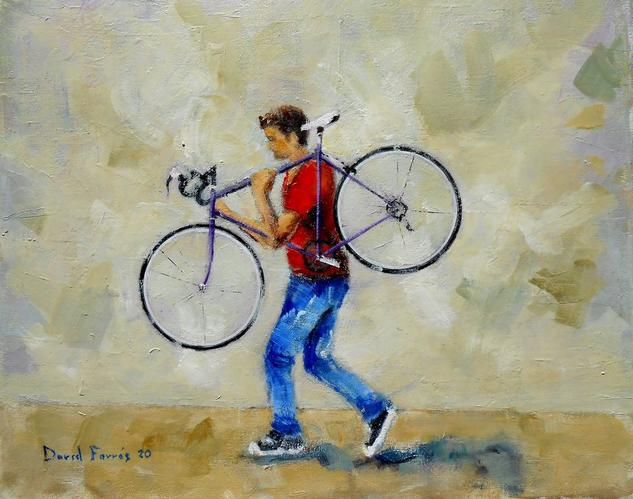 Bici 002 2020 Figura Óleo Lienzo