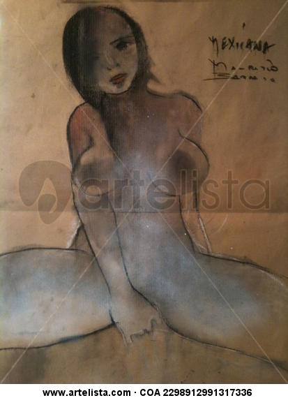 la chica mexicana Papel Media Mixta Desnudos