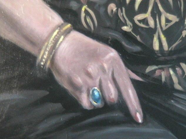 PEPITA RIVAS (La madre del artista, detalle de la mano) Portrait Canvas Oil