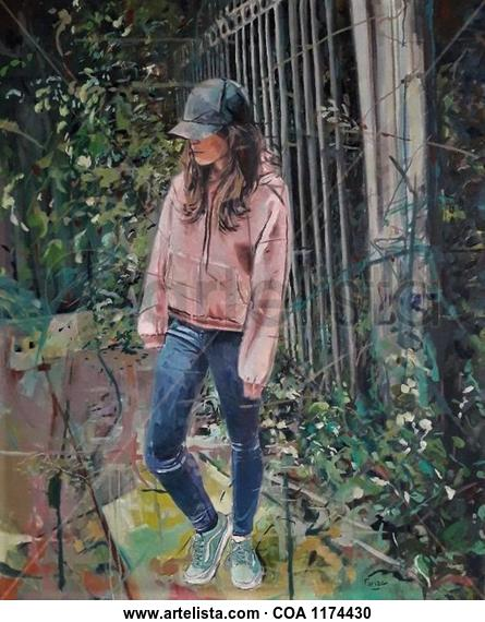 Pensando Figure Painting Oil Canvas