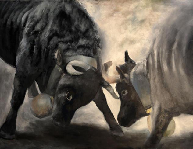 Rivales Lienzo Acrílico Animales