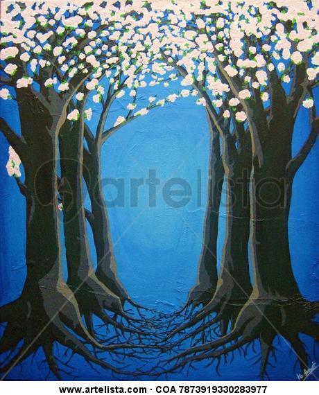 Trilogia 3. El cami dels cirerers. Canvas Acrylic Others