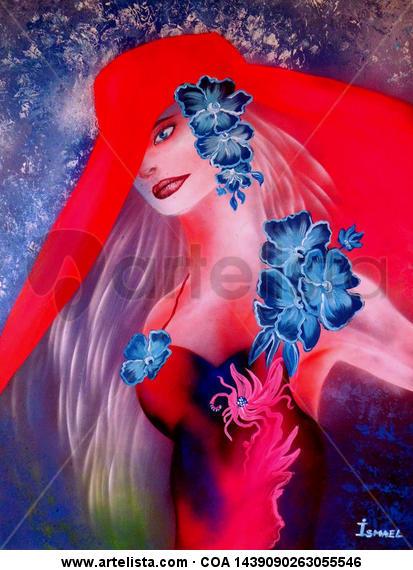 Summer Girl Cartulina Grafito Retrato