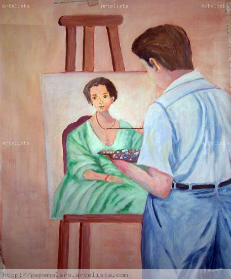 retratando a Marta Acrílico Lienzo Figura