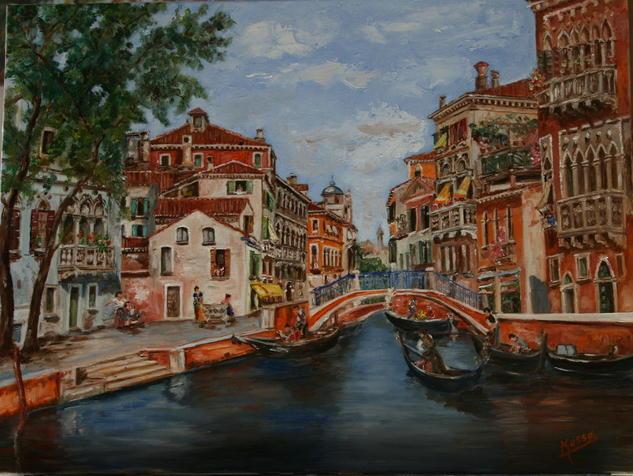 Rincon de Venecia Lienzo Óleo Paisaje