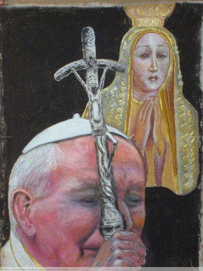 Milagro De La Virgen de Fatima Lienzo Media Mixta Retrato