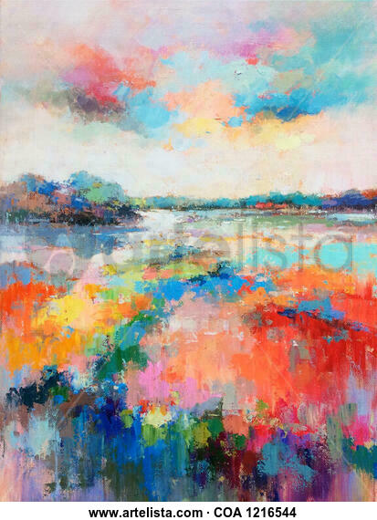 Floral land 811 Landscaping Oil Canvas