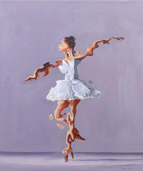 Drejen de relevé Figure Painting Acrylic Canvas