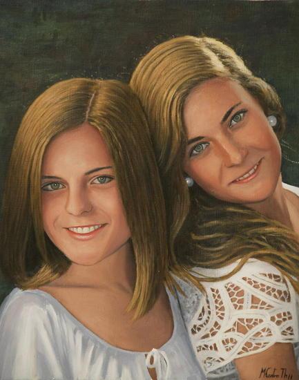 Retrato de laura y ana maria