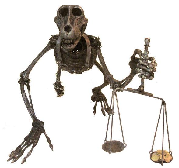 la justicia no es otra cosa que la convenicencia del mas fuerte Metal Figurativa