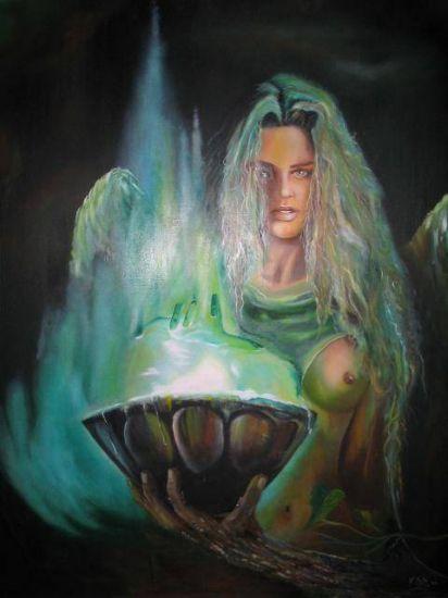 Angel Óleo Lienzo Retrato