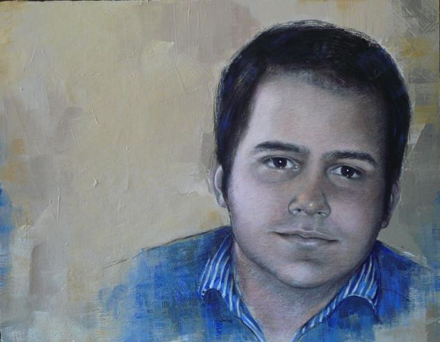 Enrique Tabla Media Mixta Retrato
