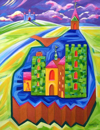 Torre en Olomouc Lienzo Acrílico Paisaje