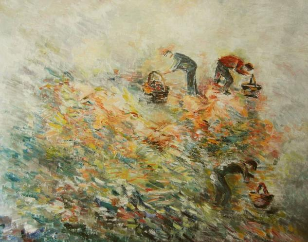 Cosechando Canvas Oil Landscaping