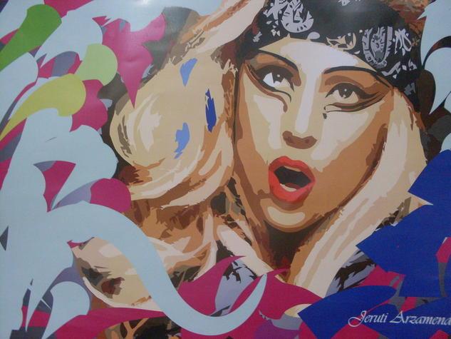 Lady Gaga Retrato Óleo Otros