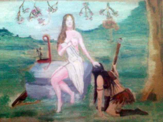Bendición En Agradecimiento De Artemisa Papel Óleo Paisaje