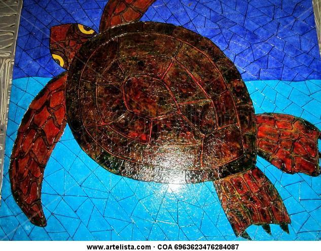 Marina la Tortuga Otros De vidriera Animales