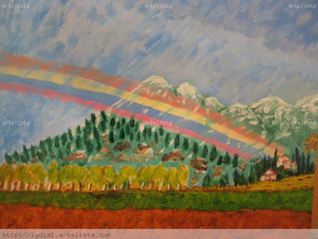 un arco iris después de la lluvia Acrylic Others Landscaping