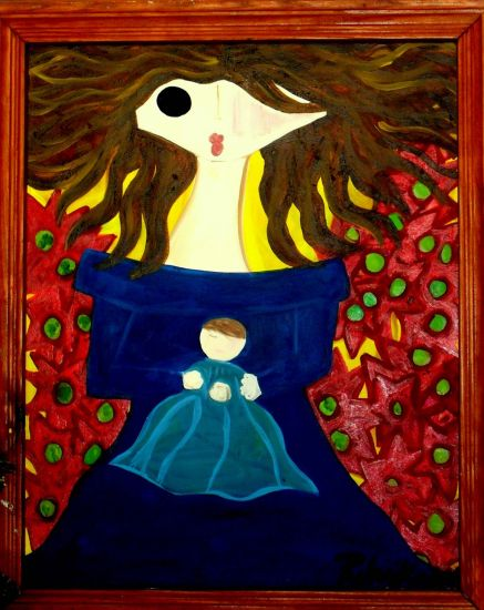 Madonna First Smile Oil Canvas Others
