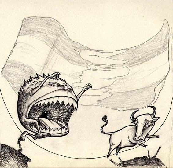 bandera rojigualda Rotulador Otros Cartulina